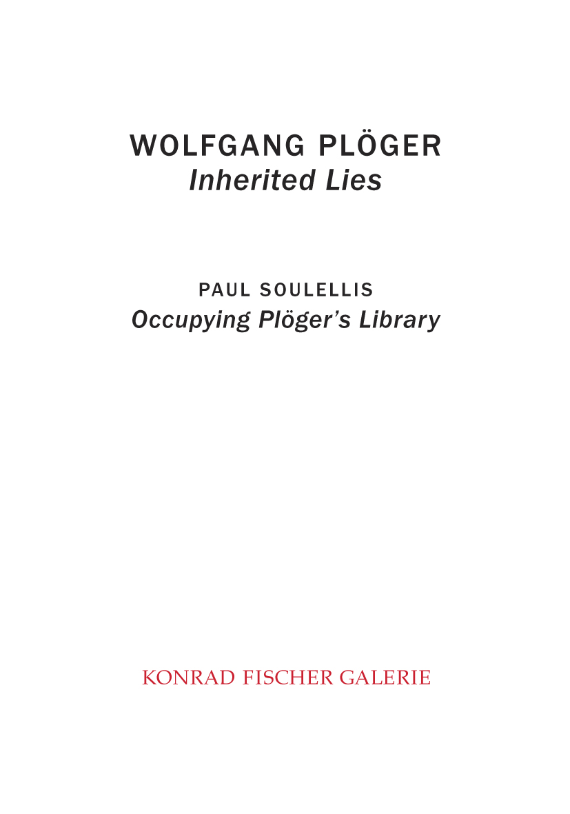 Occupying Plöger's Library